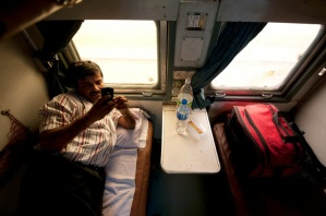 During one of the train journeys in India.