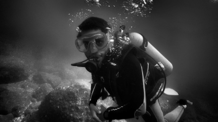 My brother and dive buddy Srikar - Netrani island, India