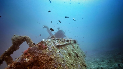 The wreck at Jepun, Bali, Indonesia